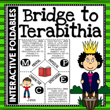 Bridge to Terabithia: Reading and Writing Interactive Notebook Foldable