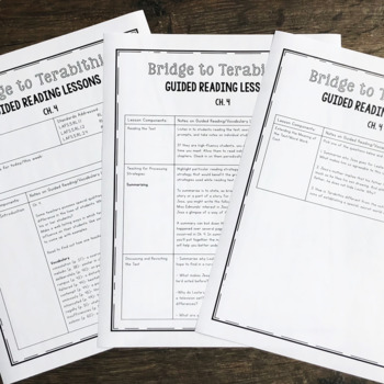 Bridge to Terabithia Guided Reading Lessons