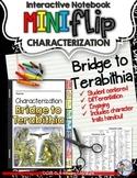 BRIDGE TO TERABITHIA: INTERACTIVE NOTEBOOK CHARACTERIZATION MINI FLIP