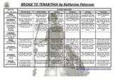 Bridge to Terabithia - Katherine Paterson Blooms & Gardner Grid with task cards