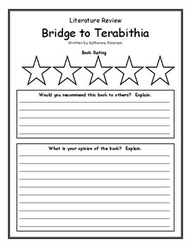 Bridge to Terabithia Katherine Paterson Summary Rating Opinion Main Idea
