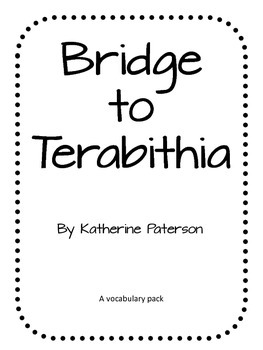 Bridge to Terabithia Lit Pack