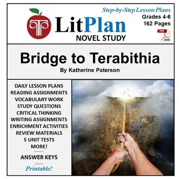LitPlan Teacher Guide: Bridge to Terabithia - Lesson Plans, Questions, Tests