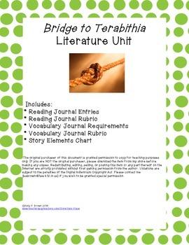 Bridge to Terabithia Literature Unit