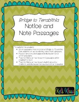 Bridge to Terabithia Notice and Note Passages