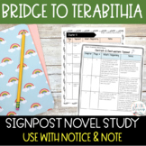Bridge to Terabithia Novel Study Notice and Note Signposts