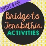 Bridge to Terabithia Novel Unit Study Activities, Book Companion Worksheets