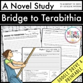 Bridge to Terabithia Novel Study Unit: comprehension, vocab, activities, tests