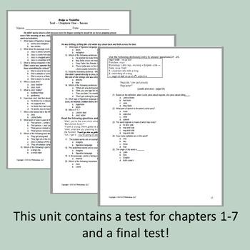 Bridge to Terabithia Novel Unit ~ Activities, Handouts, Lesson Plans, Tests