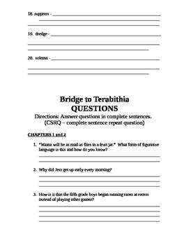 Bridge to Terabithia Packet
