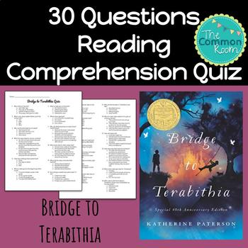 Bridge to Terabithia (Paterson)-Comprehension Test or Quiz