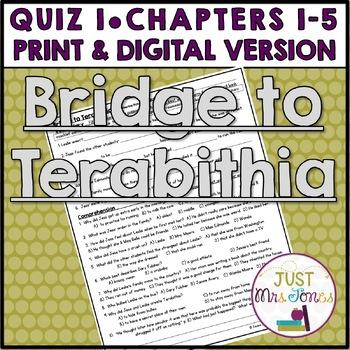 Bridge to Terabithia Quiz 1 (Ch. 1-4)