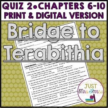 Bridge to Terabithia Quiz 2 (Ch. 5-9)