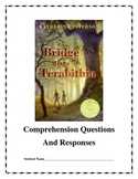 Bridge to Terabithia Reading Comprehension Questions and R