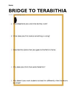 Bridge to Terabithia Reading Quiz - Chapter 9-13