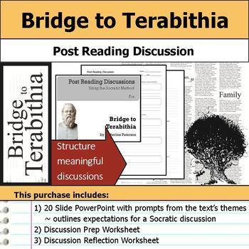 Bridge to Terabithia - Socratic Method - Post Reading Discussions