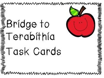 Bridge to Terabithia Task Cards