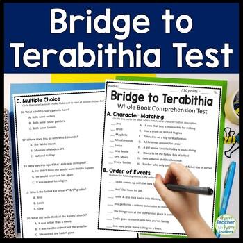 Bridge to Terabithia Test: Final Book Quiz with Answer Key ...