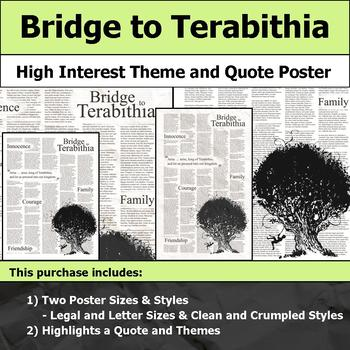 Bridge to Terabithia - Visual Theme and Quote Poster for Bulletin Boards