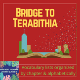 Bridge to Terabithia - Vocabulary Lists