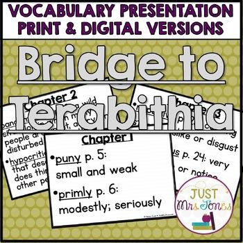 Bridge to Terabithia Vocabulary Presentation