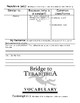 Bridge to Terabithia Vocabulary Worksheets Chapters 2-4