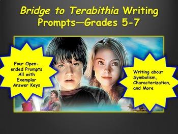 Bridge to Terabithia Writing Prompts—Grades 5-7