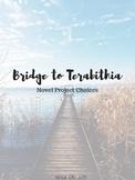 Bridge to Terabithia novel project choice board