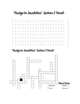 Bridge to Teribithia Vocabulary Study