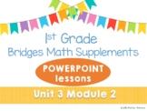 Bridges 1st Grade Math POWERPOINTS Unit 3, Module 2 Combos with the Number Rack