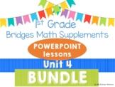 Bridges 1st Grade Math POWERPOINTS Unit 4 Leapfrogs on the Number Line BUNDLE