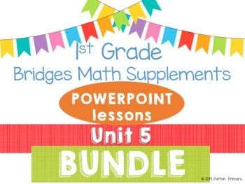 Bridges 1st Grade Math POWERPOINTS Unit 5 Geometry BUNDLE