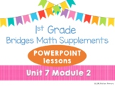 Bridges 1st Grade Math POWERPOINTS Unit 7 Module 2 Hansel & Gretel's Path # line