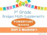 Bridges 1st Grade Math POWERPOINTS Unit 2 Module 1 Count, Compare, & Add Dominos