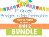 Bridges 1st Grade Math POWERPOINTS Unit 2 Strategies Dice & Dominos BUNDLE