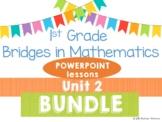 Bridges 1st Grade Math POWERPOINTS Unit 2 Strategies Dice & Dominos BUNDLE