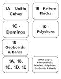 Bridges 1st Grade Work Place Labels