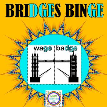Bridges Binge- Task Cards and Bridge Building Game for GE and DGE words