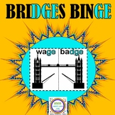 Bridges Binge- Task Cards and Bridge Building Game for GE/ DGE words