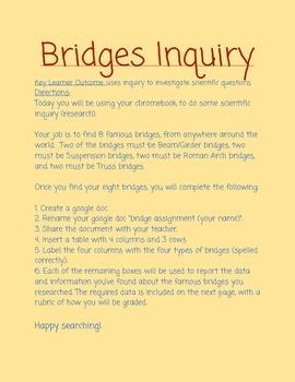 Bridges Inquiry Assignment