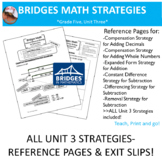 Bridges Math: 5th Grade Unit Three Strategies- Reference P
