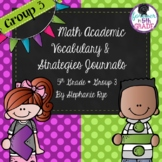 Bridges Math Academic Vocabulary & Math Strategies Journals - Unit 3