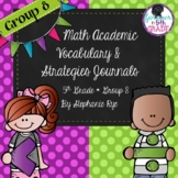 Bridges Math Academic Vocabulary & Math Strategies Journals - Unit 8