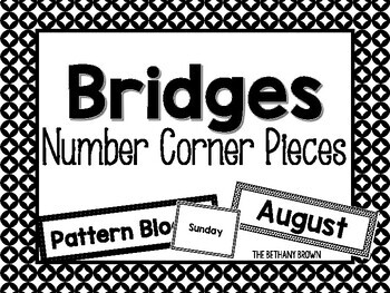 Bridges Math Calendar Pieces by The Bethany Brown   TpT