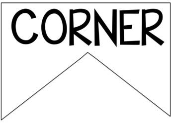 Bridges Math EDITABLE Number Corner Banner