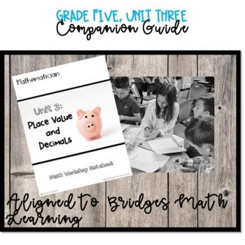 Bridges Math Grade Five, Unit 3 Companion Student Notebook