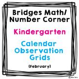 Bridges Math Number Corner Calendar Grid Observations Kindergarten February