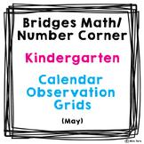 Bridges Math Number Corner Calendar Grid Observations Kindergarten May