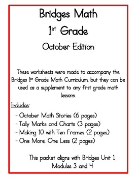 Bridges Math Practice: October Edition by Better at the Beach | TpT