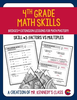 Bridges Math Skill Mastery Supplement Packet #3: Factors vs. Multiples